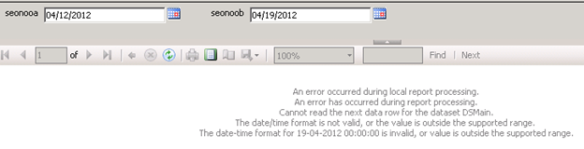 DateTime Parameter Issue in SSRS (The date/time format is