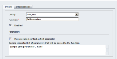 Passing parameters to JavaScript Web Resource function in