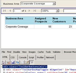 Hiding Tool Bar from the SSRS Report while using them in Dashboard (CRM 2011) (2/4)