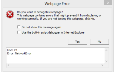 """Network Error"""" while calling WCF Service through JavaScript"""