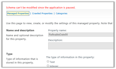 Schema can't be modified since the application is paused