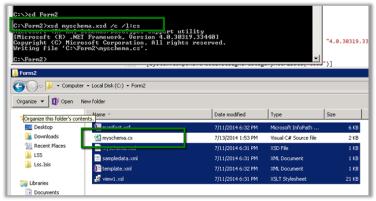 Generate a C# class from an InfoPath form   Nishant Rana's Weblog