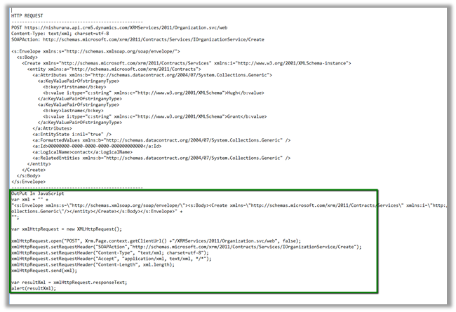 Updated SOAPLogger for CRM 2013 to generate JavaScript (2/2)