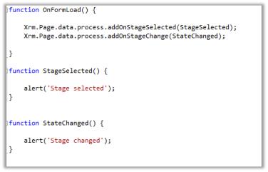 New addOnStageSelected and addOnStageChange method for