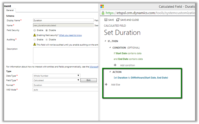 Calculate Date Difference in CRM 2015. (2/3)