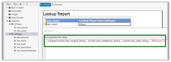 Using Lookup, LookupSet and Multilookup function in SSRS