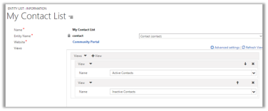 Using Entity List to show CRM Data in Portal in Dynamics 365