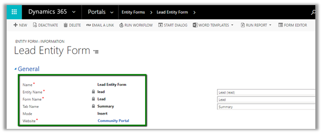 Using Entity Form to show CRM Form inside Portal - Web Portals for ...