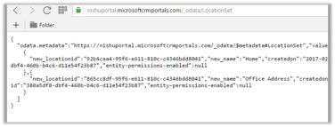 Configuring OData feed for Entity List in Portal in Dynamics