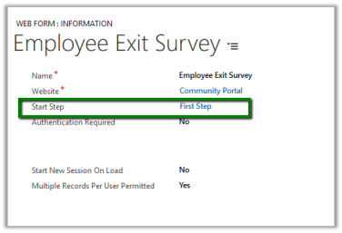 Using Web Form to create a simple survey in Portal (Dynamics