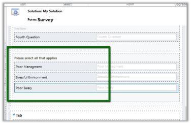 Configuring Multiple Choice field for Web Form in Portal
