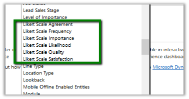 Using Multiple Choice Matrix and Likert Scape Option Sets in
