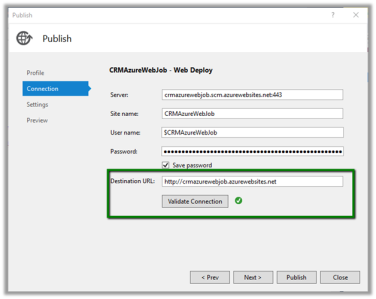 Scheduling a Web Job (console application) using Azure