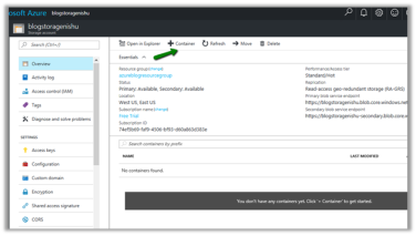 Sample code to upload file to Azure Blob Storage from CRM