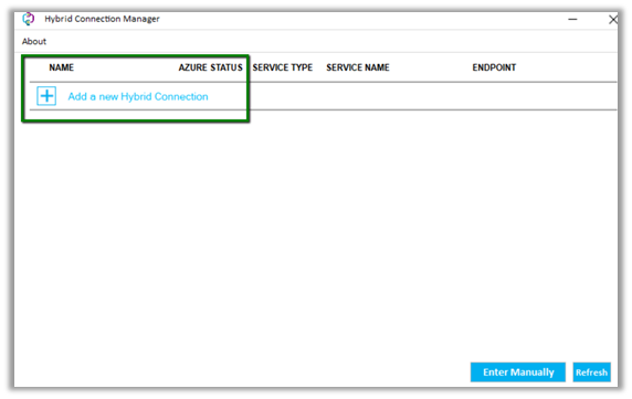 Using Azure Hybrid Connections to connect to SQL On-Prem Database