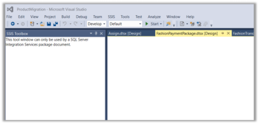 View Designer not showing SSIS Package in Design mode in
