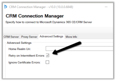 CRM service call returned an error: The server is busy and