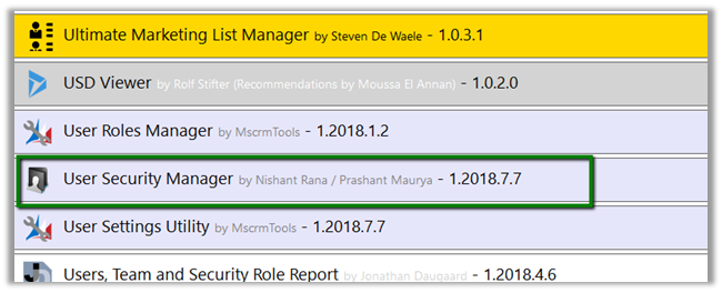 User Security Manager – My first XrmToolBox Plugin | Nishant