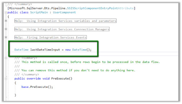 Using Script Component to specify input value to OLE DB Source