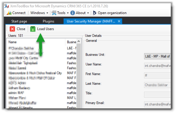 User Guide – User Security Manager, XrmToolBox Plugin for