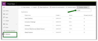 Using PowerApps Solution Checker from the PowerApps maker portal