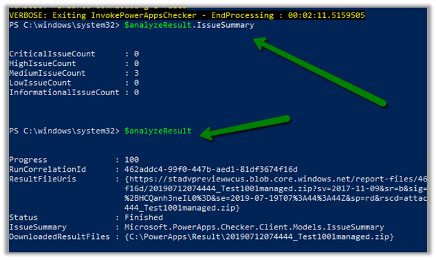 Using the PowerApps checker PowerShell Module to validate
