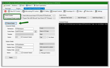 Using PCF Custom Control Builder (XrmToolBox Plugin) to