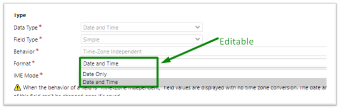 Date Time Behavior and Format in Power Platform/Dynamics 365CRM