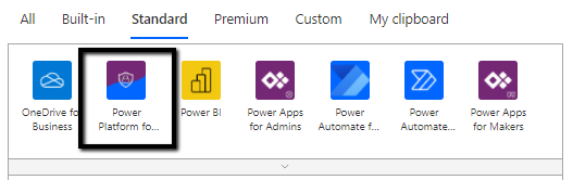 Power Platform for Admins connector (preview) in PowerAutomate