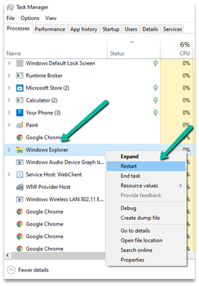 Fixed – Taskbar overlapping / showing in Full Screen in Windows 10