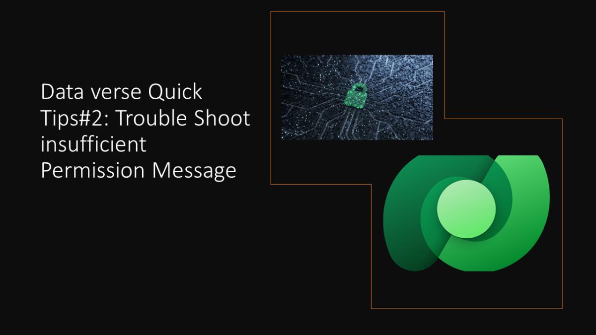 DataVerse Quick Tips#2: Trouble Shoot insufficient PermissionMessage