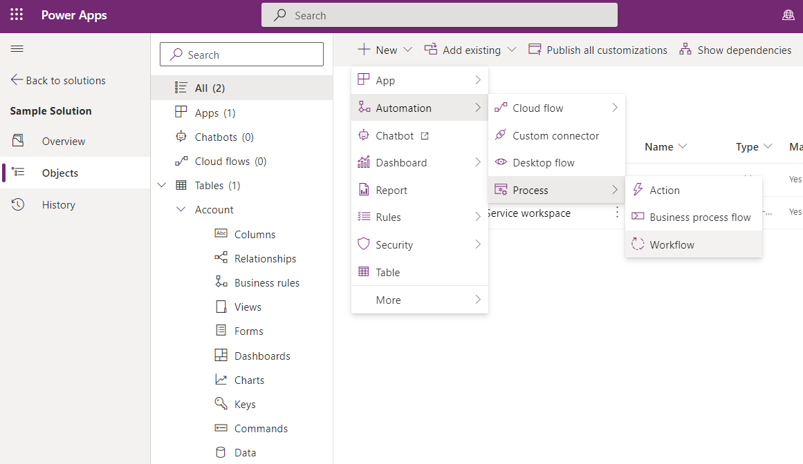Updated Solution Explorer (Preview) experience in Dynamics365